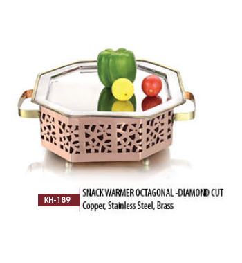 Snack Warmer Octagonal- Diamond Cut