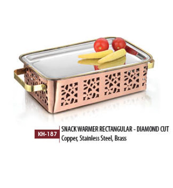 Snack Warmer Rectangular Diamond Cut