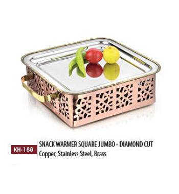 Snack Warmer Square Jumbo Diamond Cut